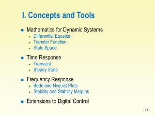 I. Concepts and Tools