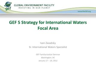 GEF 5 Strategy for International Waters Focal Area