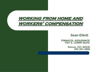 working from home and workers' compensation