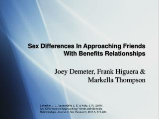 Sex Differences In Approaching Friends With Benefits Relationships