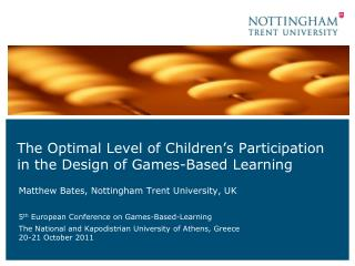 The Optimal Level of Children's Participation in the Design of Games-Based Learning