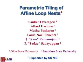Parametric Tiling of Affine Loop Nests *
