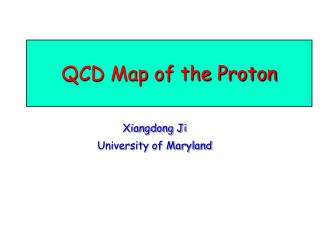 QCD Map of the Proton