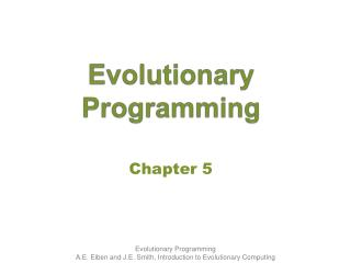 Evolution ary Programming
