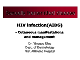 Non-Infectious Manifestations of HIV
