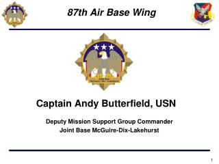 Captain Andy Butterfield, USN