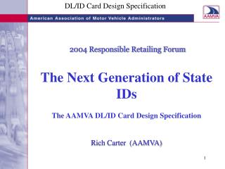 DL/ID Card Design Specification