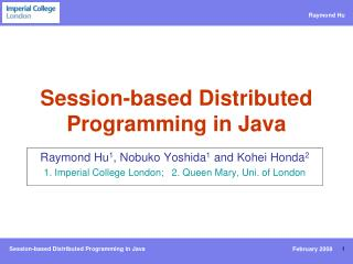 Session-based Distributed Programming in Java