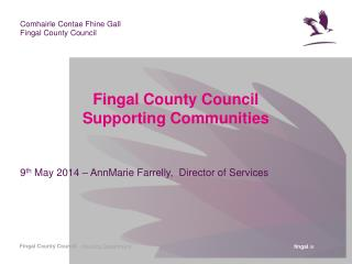 Fingal County Council  Supporting Communities