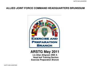 ARSTG May 2011 Ltc Allan Ahlgreen DNK A    Head Isaf Training Section Exercise Preparation Branch