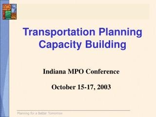 Transportation Planning Capacity Building