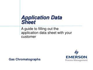 Application Data Sheet