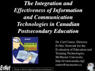 The Integration and Effectiveness of Information and Communication Technologies in Canadian Postsecondary Education