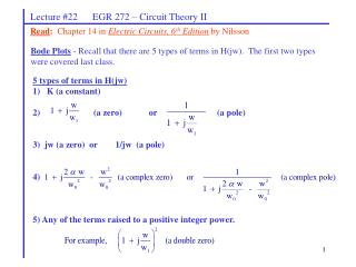 Lecture #22 EGR 272 – Circuit Theory II