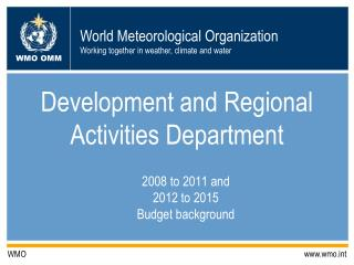Development and Regional Activities Department