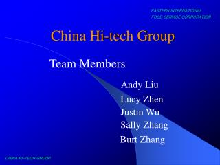 China Hi-tech Group