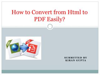 How to Convert from Html to PDF Easily?