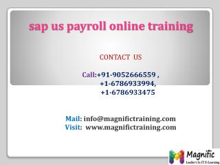 sap us payroll online training in usa,uk,australia