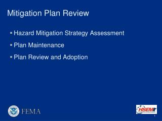 Mitigation Plan Review