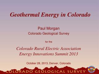 Geothermal Energy in Colorado