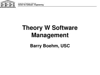 Theory W Software Management