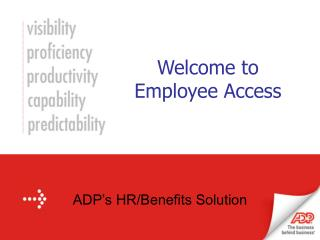 Welcome to Employee Access