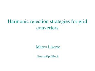 Harmonic rejection strategies for grid converters