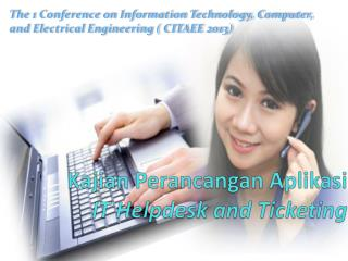 Kajian Perancangan Aplikasi IT Helpdesk and Ticketing