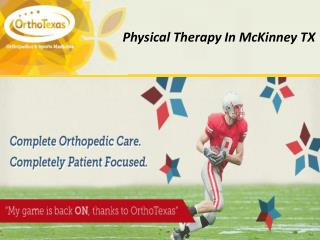 Physical Therapy in McKinney TX