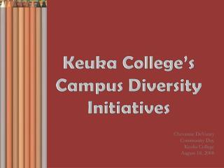 Keuka College's Campus Diversity Initiatives