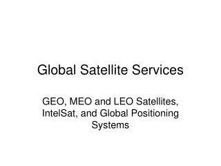 Global Satellite Services