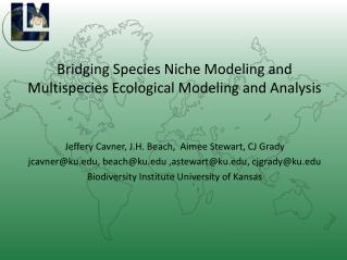 Bridging Species Niche Modeling and Multispecies Ecological Modeling and Analysis