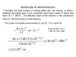 Numericals on semiconductors