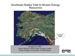 Southeast Alaska Tidal In-Stream Energy Resources