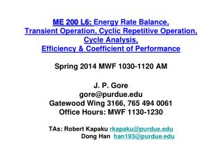 Closed System Energy Balance