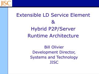 Extensible LD Service Element & Hybrid P2P/Server Runtime Architecture