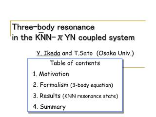 Three-body resonance in the KNN-π Y N coupled system