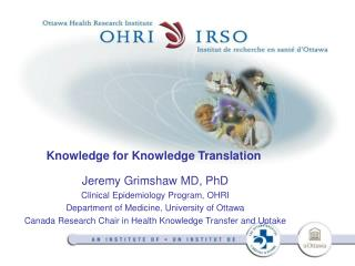 Knowledge for Knowledge Translation