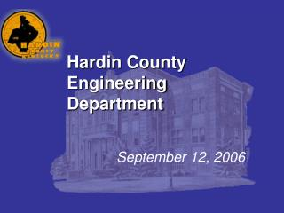 Hardin County Engineering Department