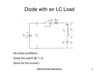 Diode with an LC Load