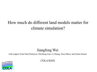 How much do different land models matter for climate simulation?