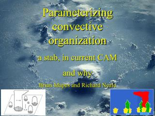 Parameterizing convective organization a stab, in current CAM and why