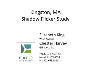 Kingston, MA Shadow Flicker Study