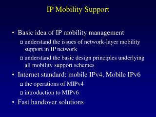 IP Mobility Support