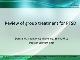 Review of group treatment for PTSD