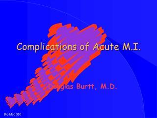 Complications of Acute M.I.