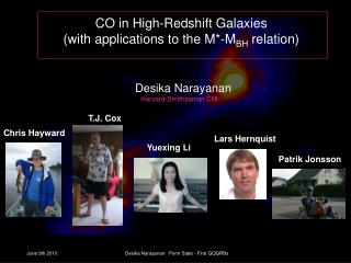 CO in High-Redshift Galaxies (with applications to the M*-M BH  relation)