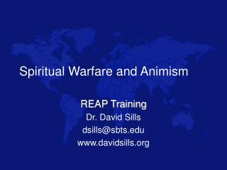 Spiritual Warfare and Animism