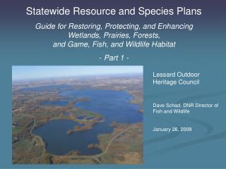 Statewide Resource and Species Plans