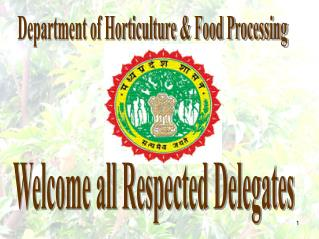 Department of Horticulture & Food Processing
